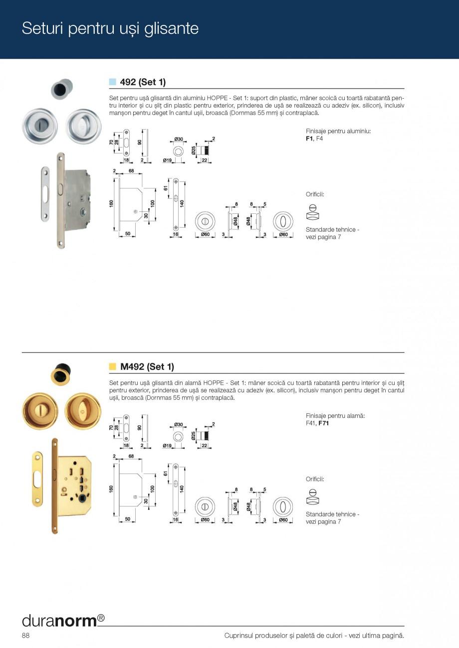 Pagina 10 - Manere pentru usi glisante HOPPE Acapulco M462, Monte Carlo M425, Seturi pentru usi...