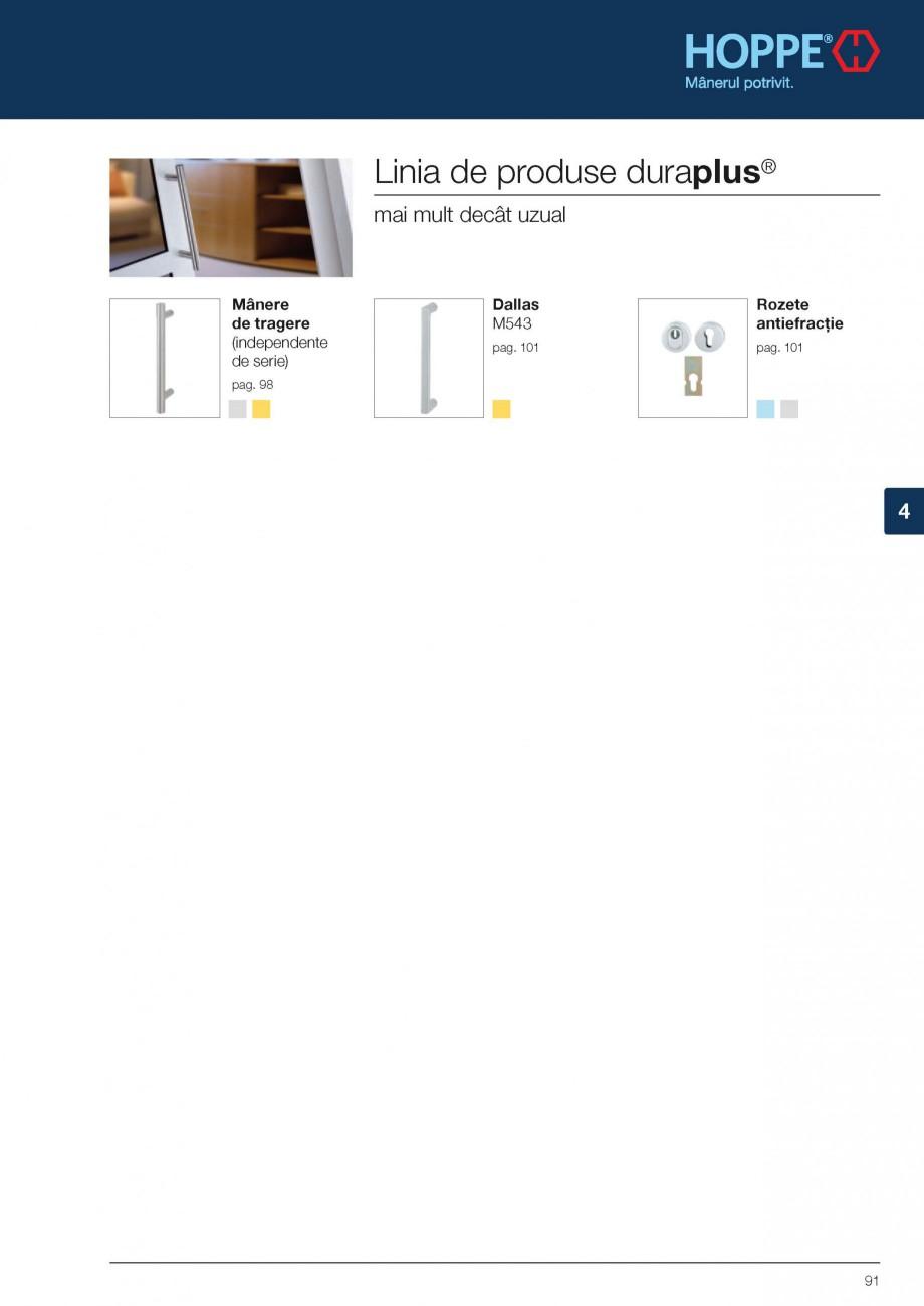 Pagina 3 - Manere de tragere si rozete antiefractie HOPPE Monte Carlo M550LG, Singapore M476/15,...