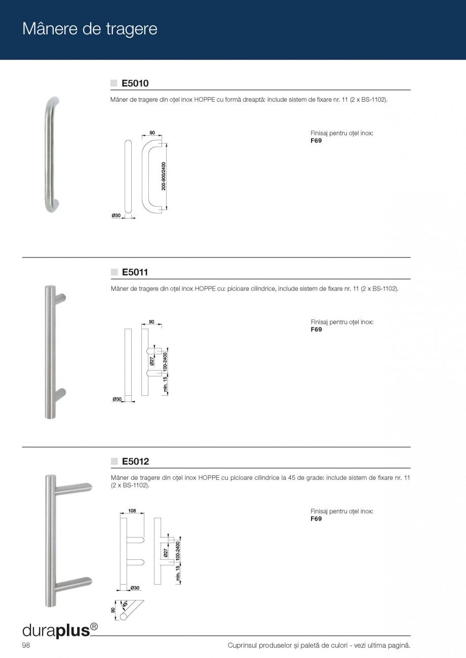 Pagina 10 - Manere de tragere si rozete antiefractie HOPPE Monte Carlo M550LG, Singapore M476/15,...