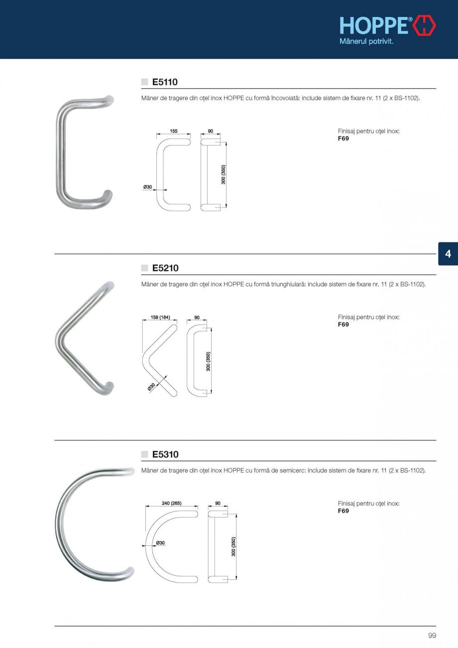 Pagina 11 - Manere de tragere si rozete antiefractie HOPPE Monte Carlo M550LG, Singapore M476/15,...