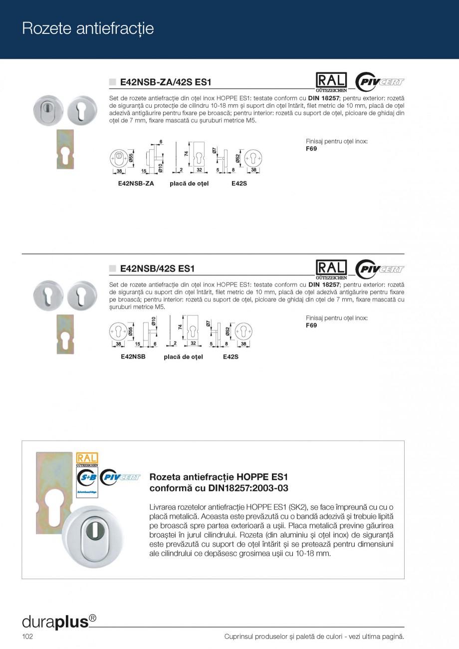 Pagina 14 - Manere de tragere si rozete antiefractie HOPPE Monte Carlo M550LG, Singapore M476/15,...