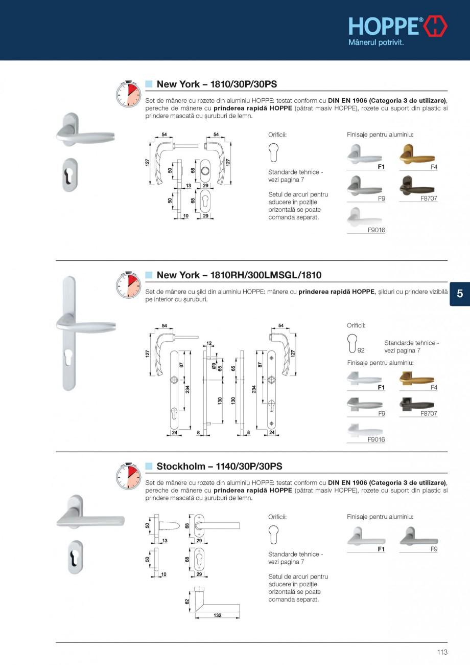 Pagina 11 - Manere pentru usi din profil si manere antiefractie HOPPE Atlanta 1530 - usi din profil,...