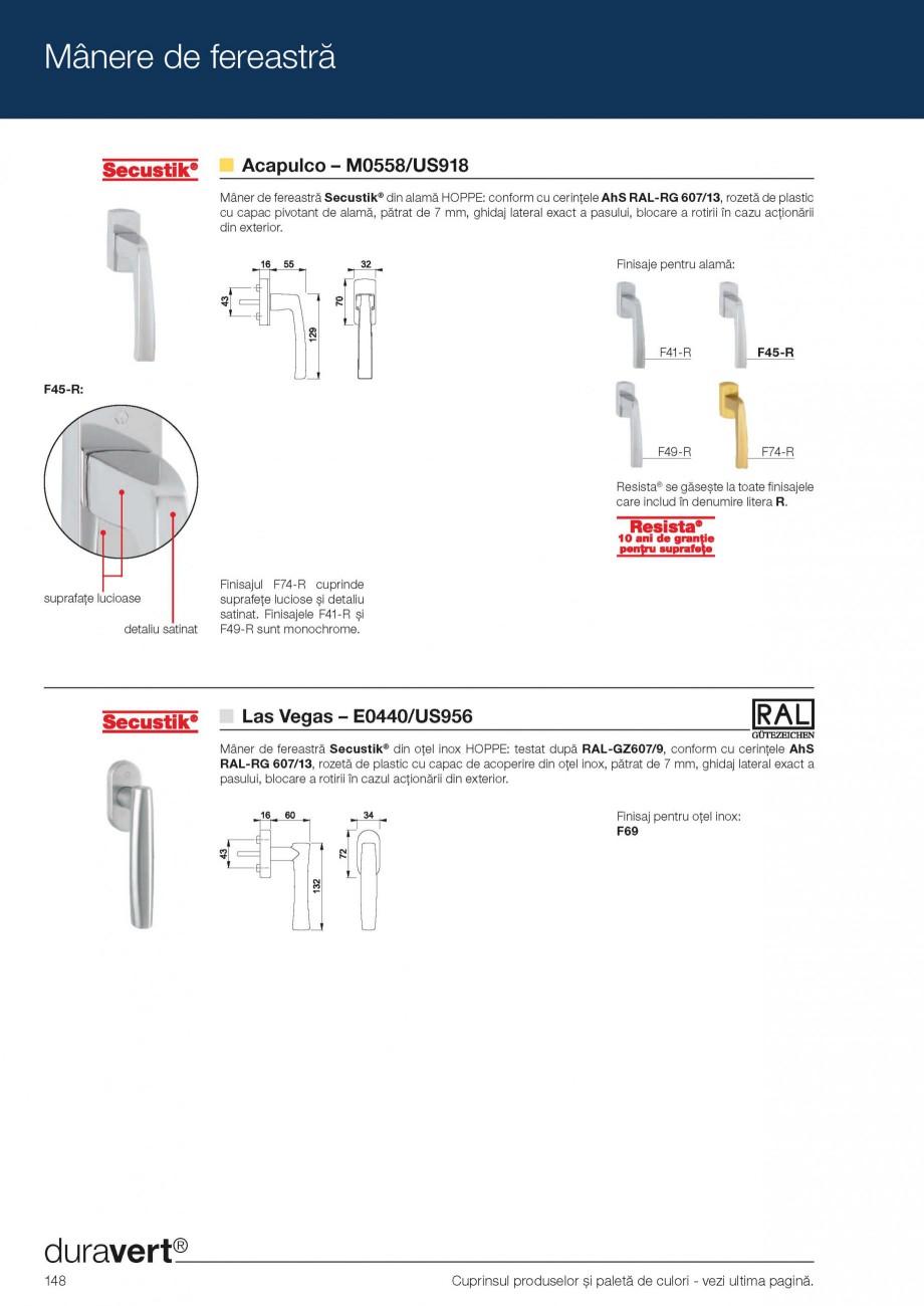 Pagina 7 - Manere pentru ferestre HOPPE Acapulco M0558, Las Vegas E0440, Monte Carlo M0550, Phoenix ...