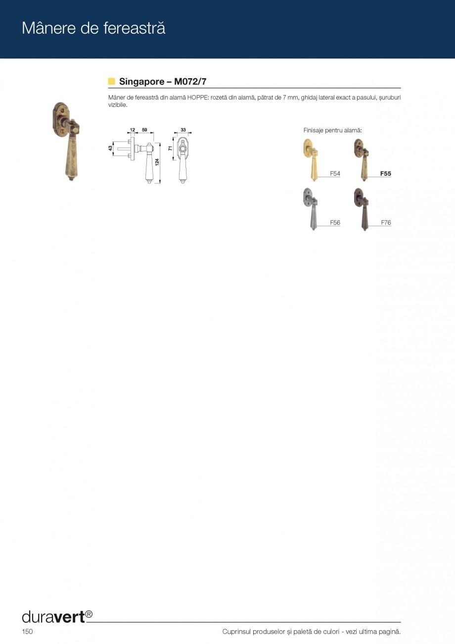 Pagina 9 - Manere pentru ferestre HOPPE Acapulco M0558, Las Vegas E0440, Monte Carlo M0550, Phoenix ...