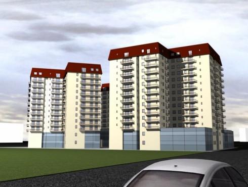 6 blocuri de locuinte cu 3S + P + M + 9, 11 E + M Brasov, Str. Poienelor nr.2A, 2006-2008  - Poza 1