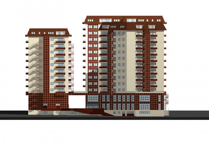 6 blocuri de locuinte cu 3S + P + M + 9, 11 E + M Brasov, Str. Poienelor nr.2A, 2006-2008  - Poza 2