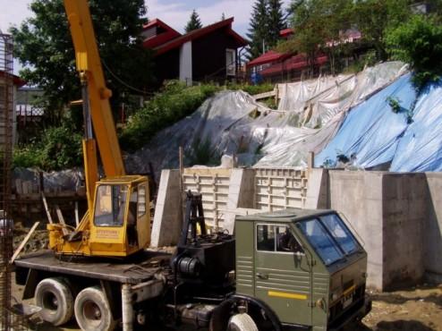 Amenajarea versantilor - Zid de sprijin - Terasare - Hotel Carmen Predeal  - Poza 5