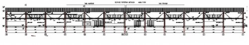 Copertina hala vopsitorie - Fabrica Rouleau Guichard - Sacele, Brasov, 2004 CERENG CONSULT - Poza 2