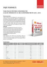 Var pentru constructii calcic hidratat CELCO