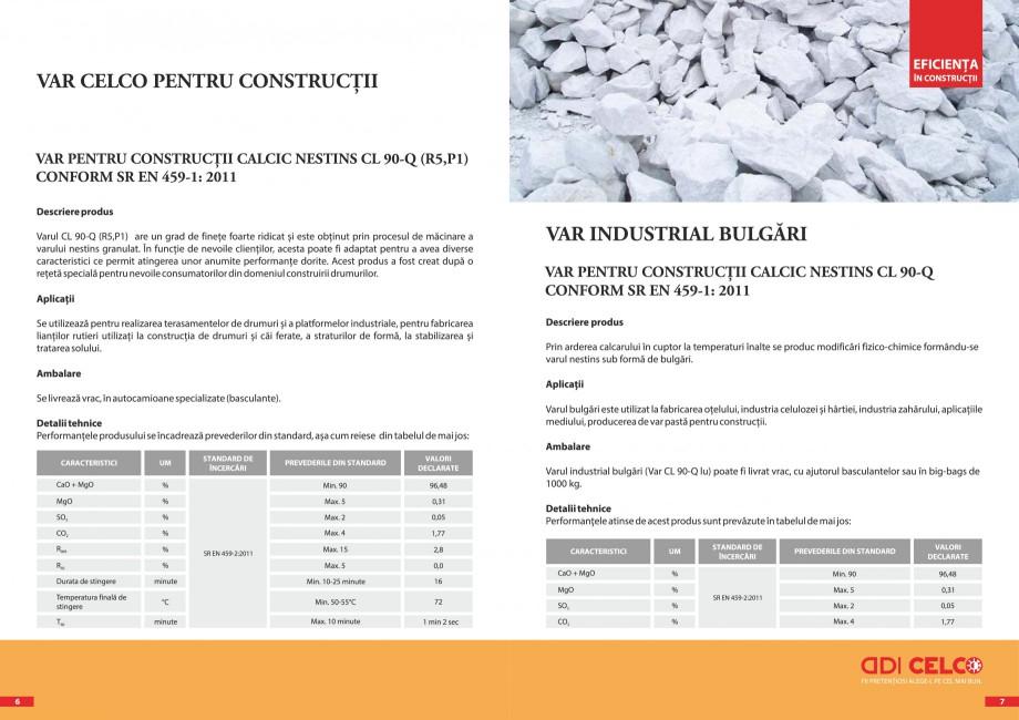 Pagina 4 - Pliant - Var CELCO Var calcic hidratat CL90-S dp, Var industrial bulgari, calcic nestins,...
