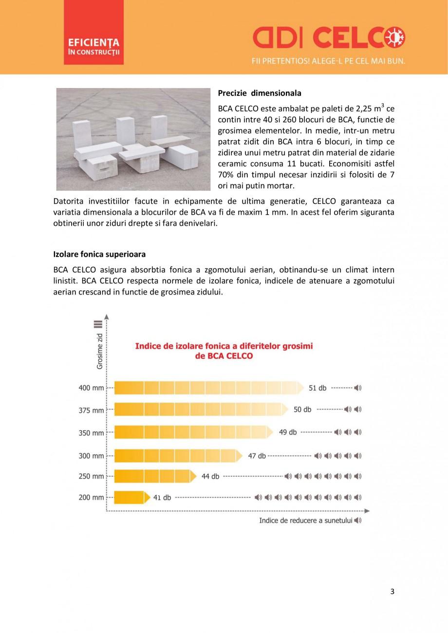Pagina 3 - De ce sa alegi BCA CELCO? CELCO MEGATERM, STANDARD, SUPERBLOCK, STRUCTOTERM, MEGATERM...
