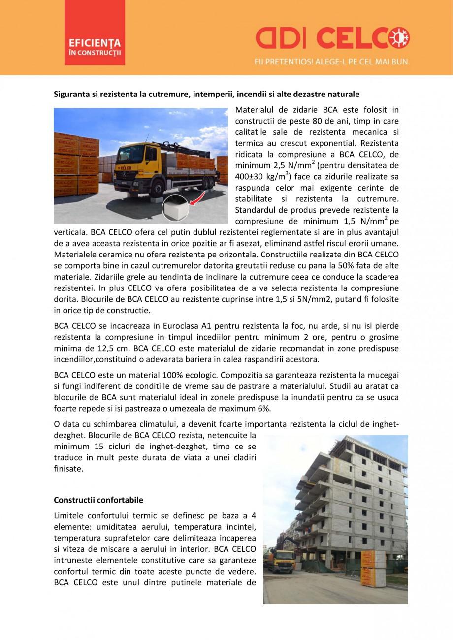 Pagina 4 - De ce sa alegi BCA CELCO? CELCO MEGATERM, STANDARD, SUPERBLOCK, STRUCTOTERM, MEGATERM...