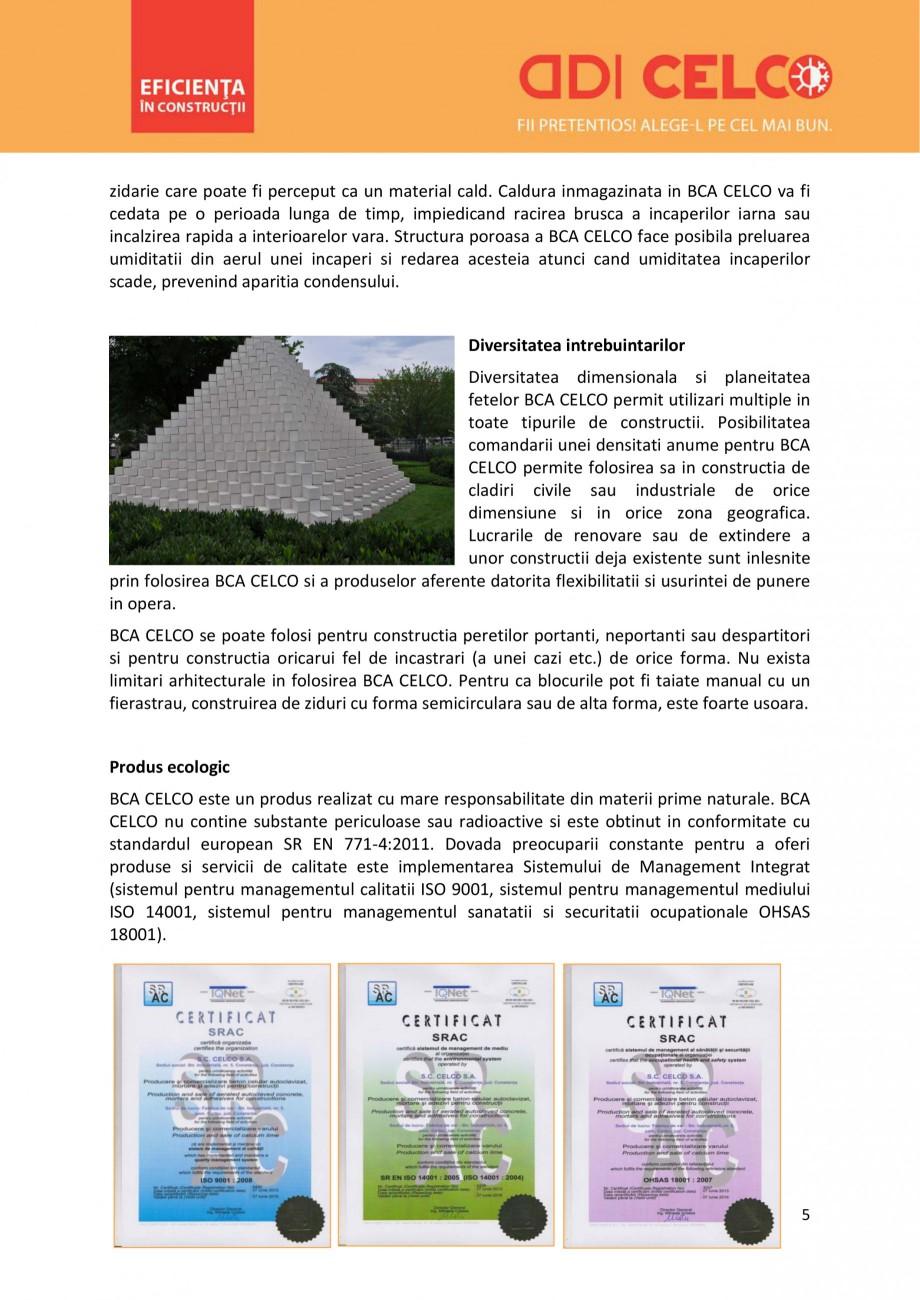 Pagina 5 - De ce sa alegi BCA CELCO? CELCO MEGATERM, STANDARD, SUPERBLOCK, STRUCTOTERM, MEGATERM...