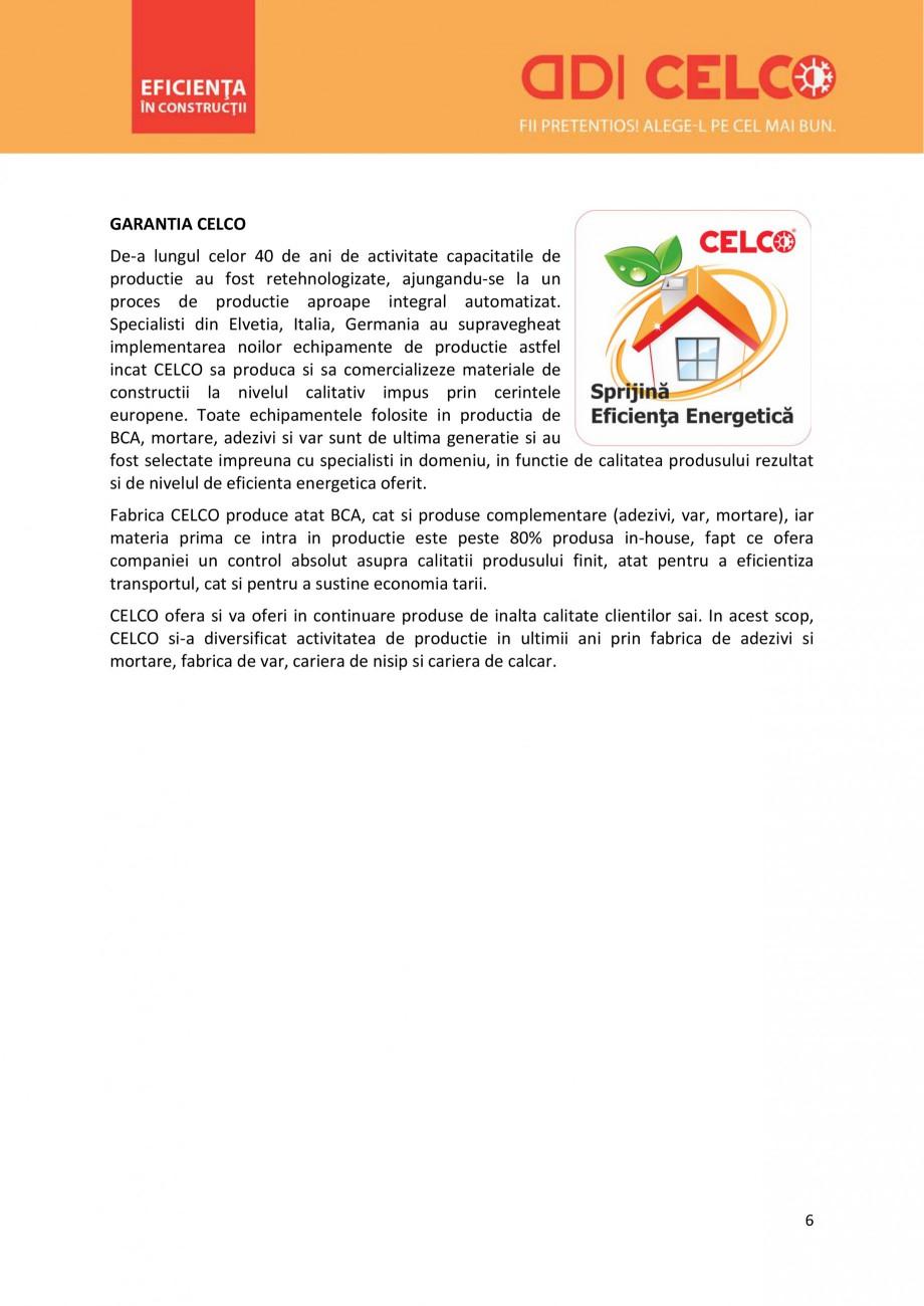 Pagina 6 - De ce sa alegi BCA CELCO? CELCO MEGATERM, STANDARD, SUPERBLOCK, STRUCTOTERM, MEGATERM...