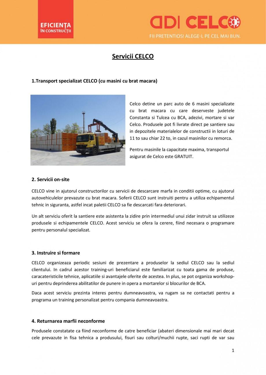 Pagina 1 - Servicii oferite de CELCO CELCO STRUCTOTERM, SUPERBLOCK, MEGATERM, STANDARD, MEGATERM...