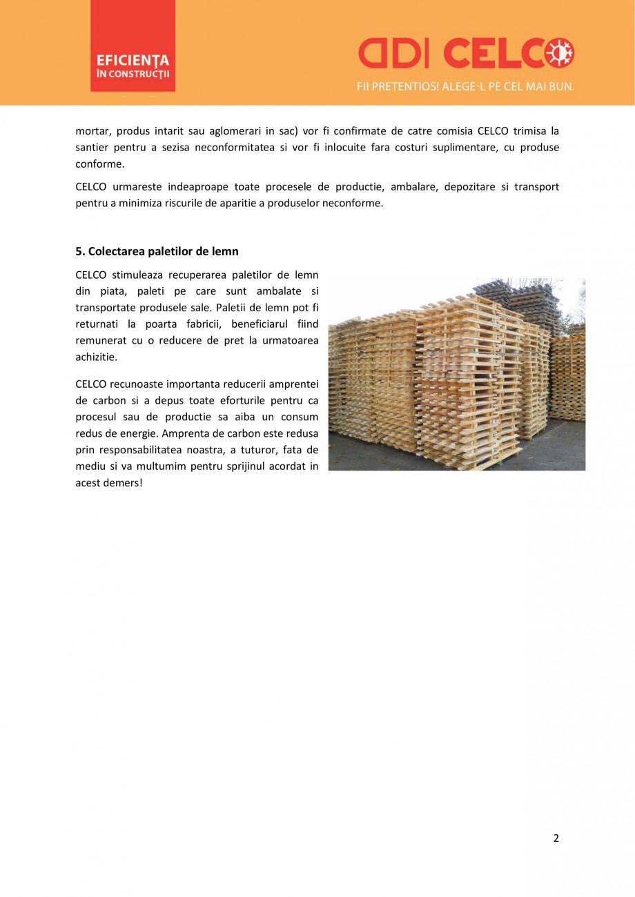 Pagina 2 - Servicii oferite de CELCO CELCO STRUCTOTERM, SUPERBLOCK, MEGATERM, STANDARD, MEGATERM...