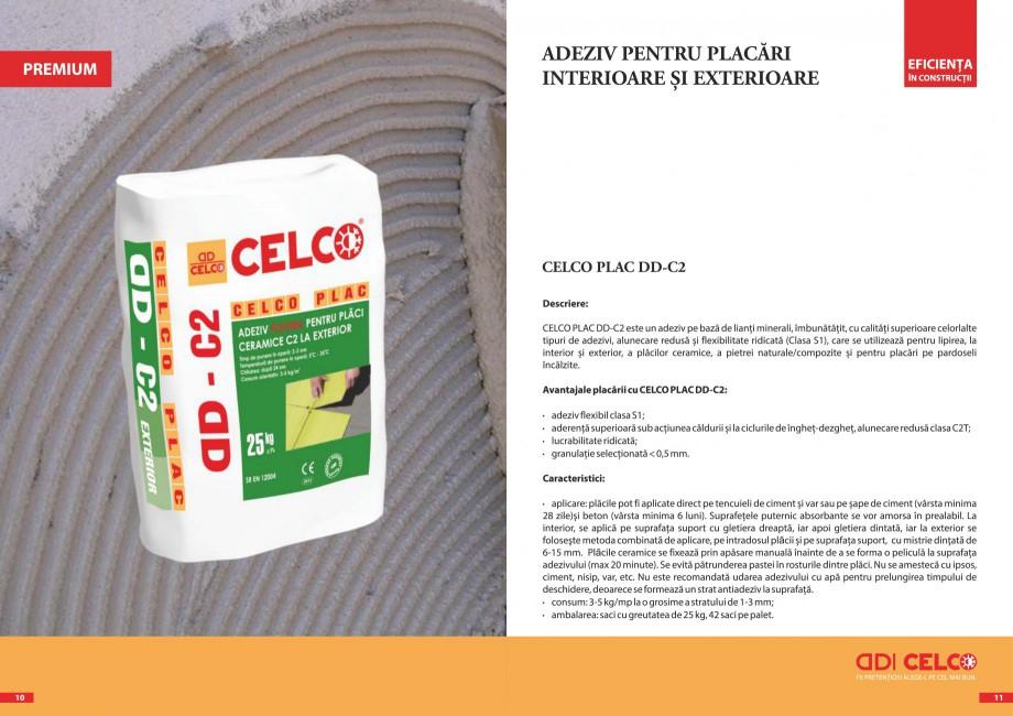 Pagina 2 - Pliant - Adezivi pentru placari  CELCO PLAC interior DD-C1, PLAC interior-exterior DD-C12...