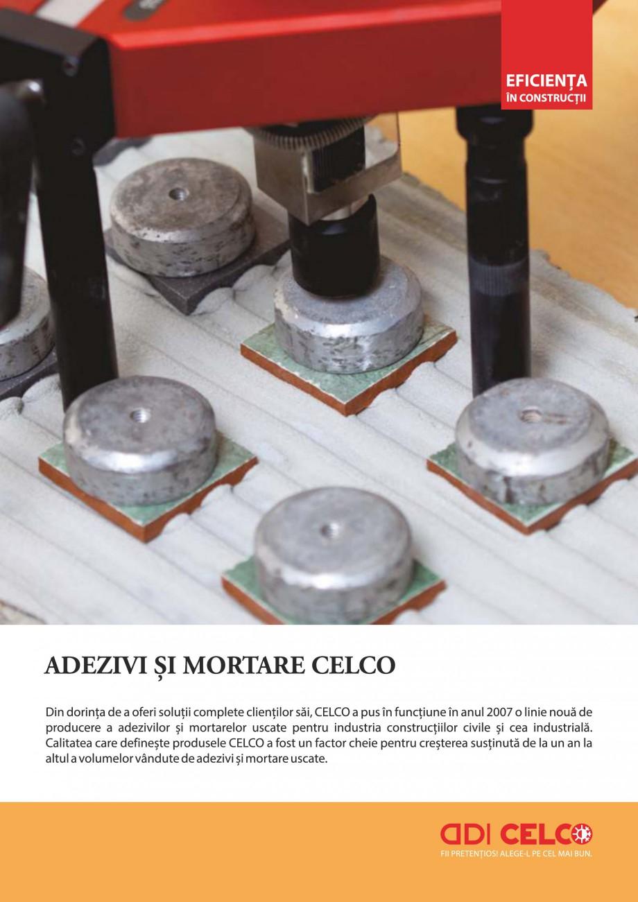 Pagina 1 - Pliant - Mortar adeziv pentru polistiren CELCO TERM DD-T3 Catalog, brosura Romana