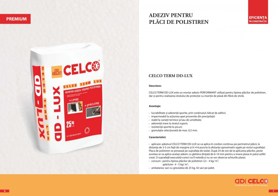 Pagina 2 - Pliant - Mortar adeziv pentru polistiren CELCO TERM DD-T3 Catalog, brosura Romana