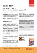 Mortar pentru tencuire mecanizata CELCO