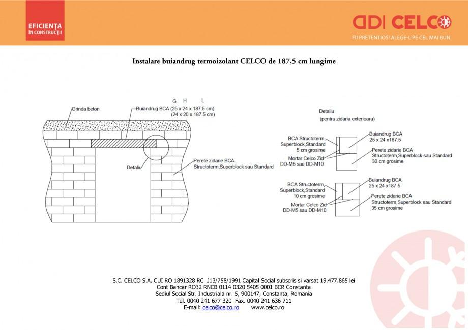 Pagina 1 - CAD-PDF Instalare buiandrug termoizolant CELCO de 187 cm lungime CELCO Detaliu de montaj