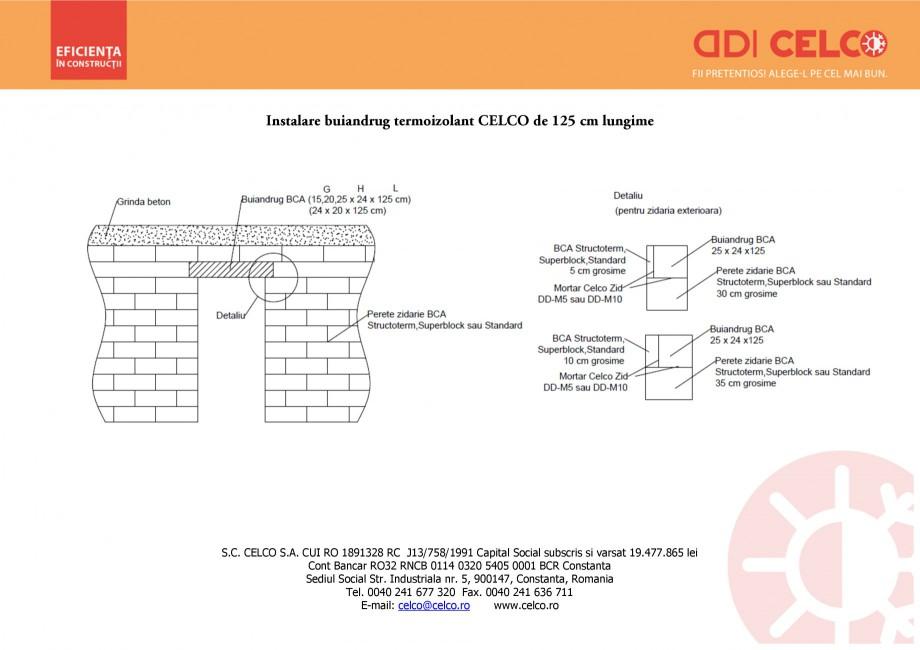 Pagina 1 - CAD-PDF Instalare buiandrug termoizolant CELCO de 125 cm lungime CELCO Detaliu de montaj