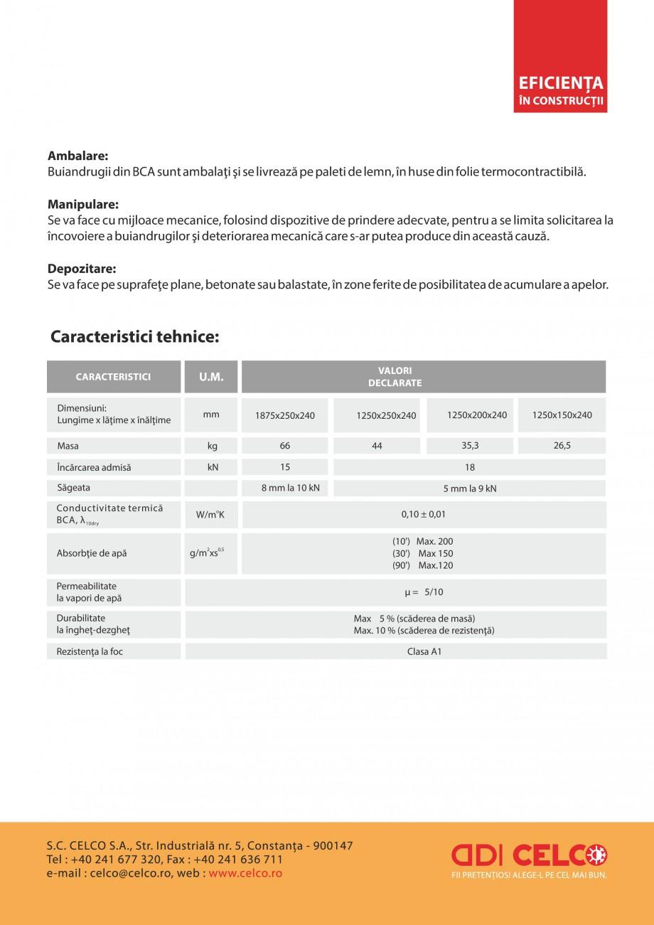 Pagina 2 - Buiandrugi termoizolanti CELCO Fisa tehnica Romana e realiza fie din beton pentru o...