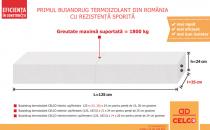 Buiandrugi termoizolanti pentru sustinerea zidariei  Buiandrugii termoizolanti CELCO sarcina maxima suportata: intre 1500 kg si 1800 kg. Se monteaza foarte usor, in aproximativ 10 minute. Sunt mai usori decat buiandrugii clasici din beton.