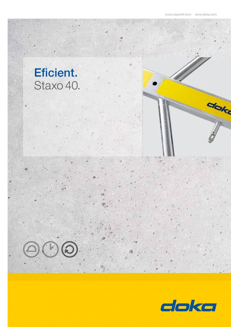 Pagina 1 - Prezentare schela portanta Staxo 40 DOKA Catalog, brosura Romana www.staxo40.com  www...