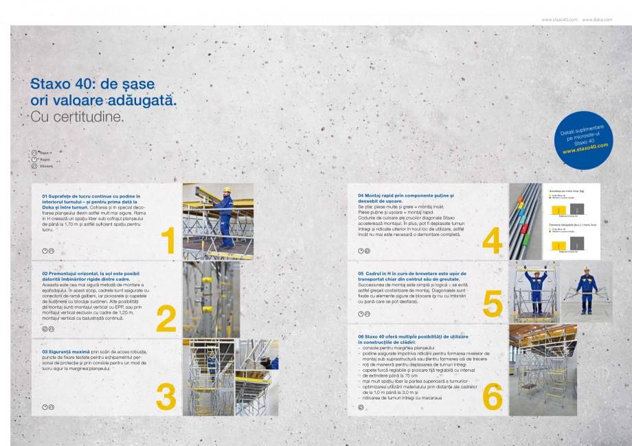 Pagina 3 - Prezentare schela portanta Staxo 40 DOKA Catalog, brosura Romana � care se pot desface). ...