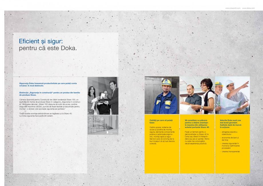 Pagina 6 - Prezentare schela portanta Staxo 40 DOKA Catalog, brosura Romana at, mai uşor de montat,...