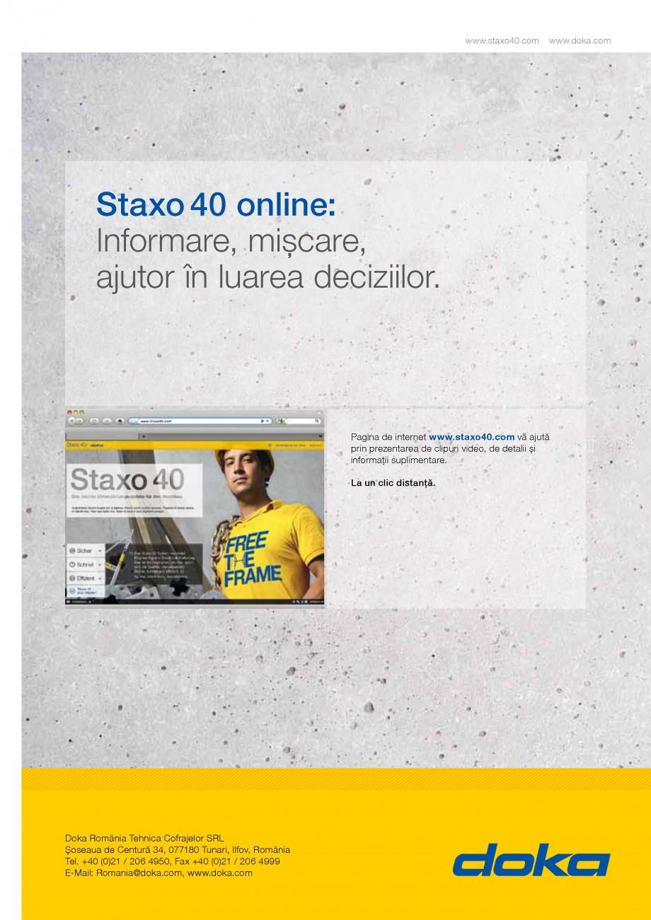 Pagina 7 - Prezentare schela portanta Staxo 40 DOKA Catalog, brosura Romana este Doka.  Siguranţa...