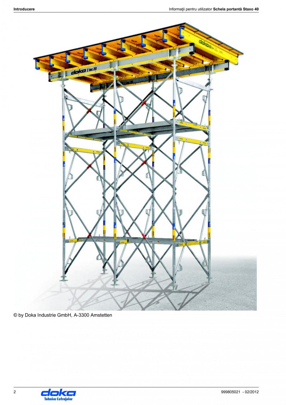 Pagina 2 - Schela portanta DOKA STAXO 40 Instructiuni montaj, utilizare Romana anevră Staxo 40...