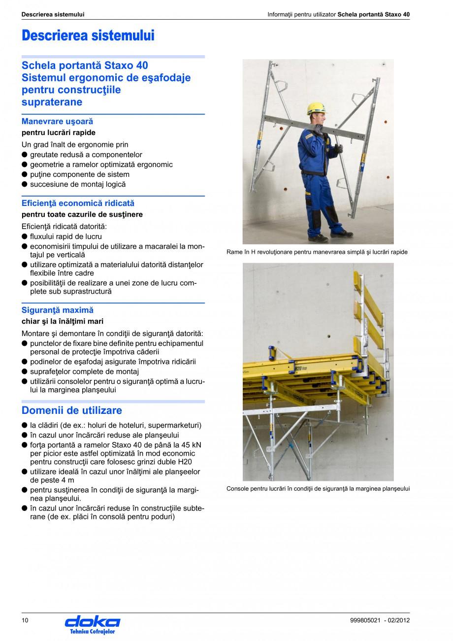 Pagina 10 - Schela portanta DOKA STAXO 40 Instructiuni montaj, utilizare Romana i Acest semn indică...