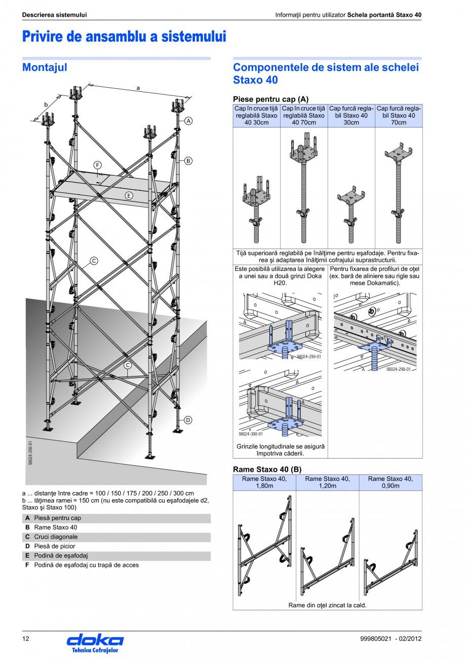 Pagina 12 - Schela portanta DOKA STAXO 40 Instructiuni montaj, utilizare Romana ai mulţi factori...
