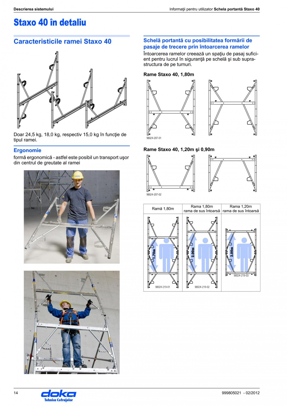 Pagina 14 - Schela portanta DOKA STAXO 40 Instructiuni montaj, utilizare Romana -100  Fefectiv≤...
