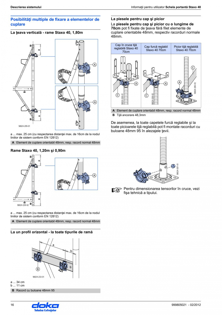 Pagina 16 - Schela portanta DOKA STAXO 40 Instructiuni montaj, utilizare Romana le  4 Faza de...
