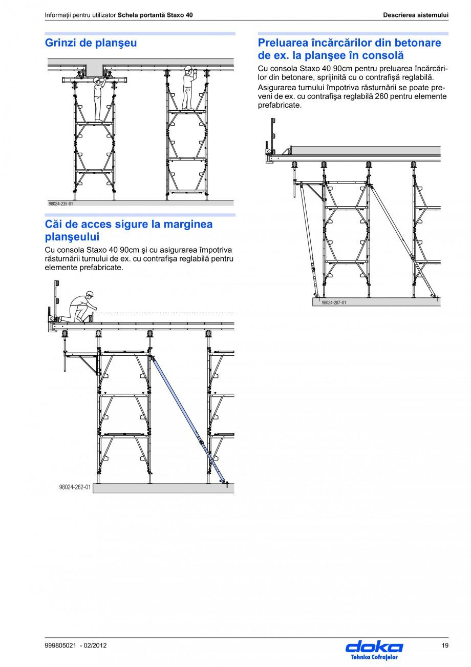 Pagina 19 - Schela portanta DOKA STAXO 40 Instructiuni montaj, utilizare Romana onomic pentru...