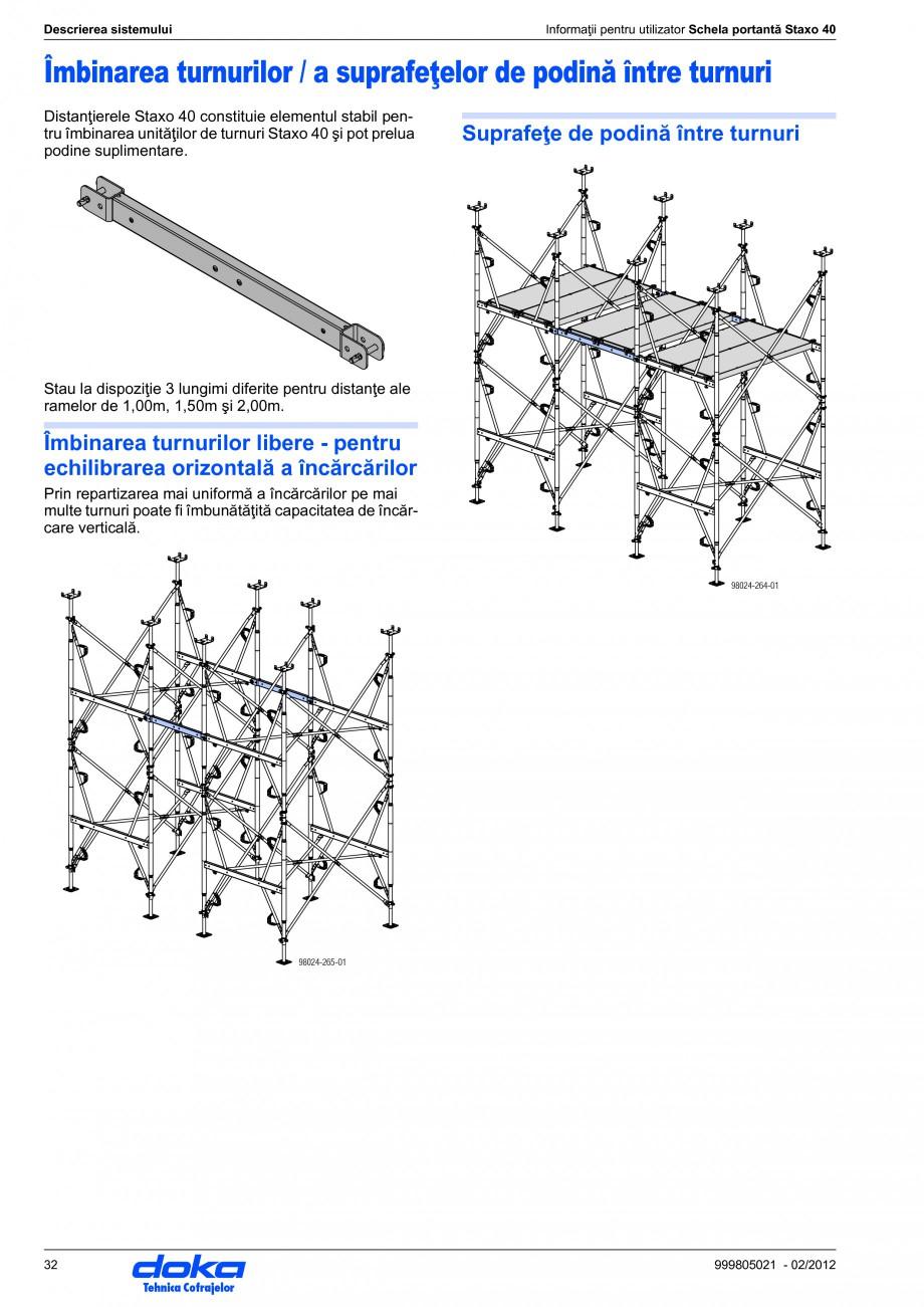 Pagina 32 - Schela portanta DOKA STAXO 40 Instructiuni montaj, utilizare Romana  1,20m 0,90m 1,80m 1...