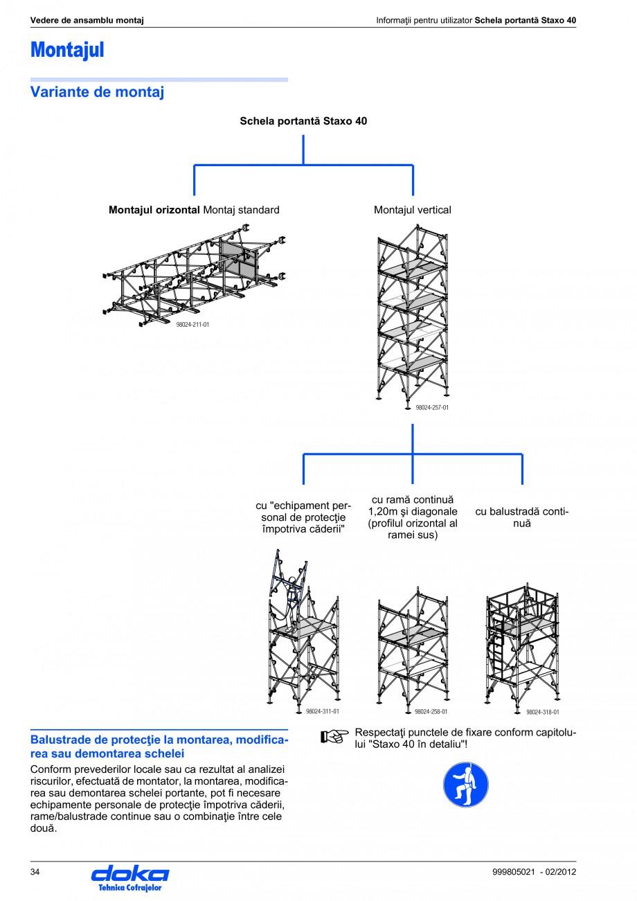 Pagina 34 - Schela portanta DOKA STAXO 40 Instructiuni montaj, utilizare Romana coraje împotriva...