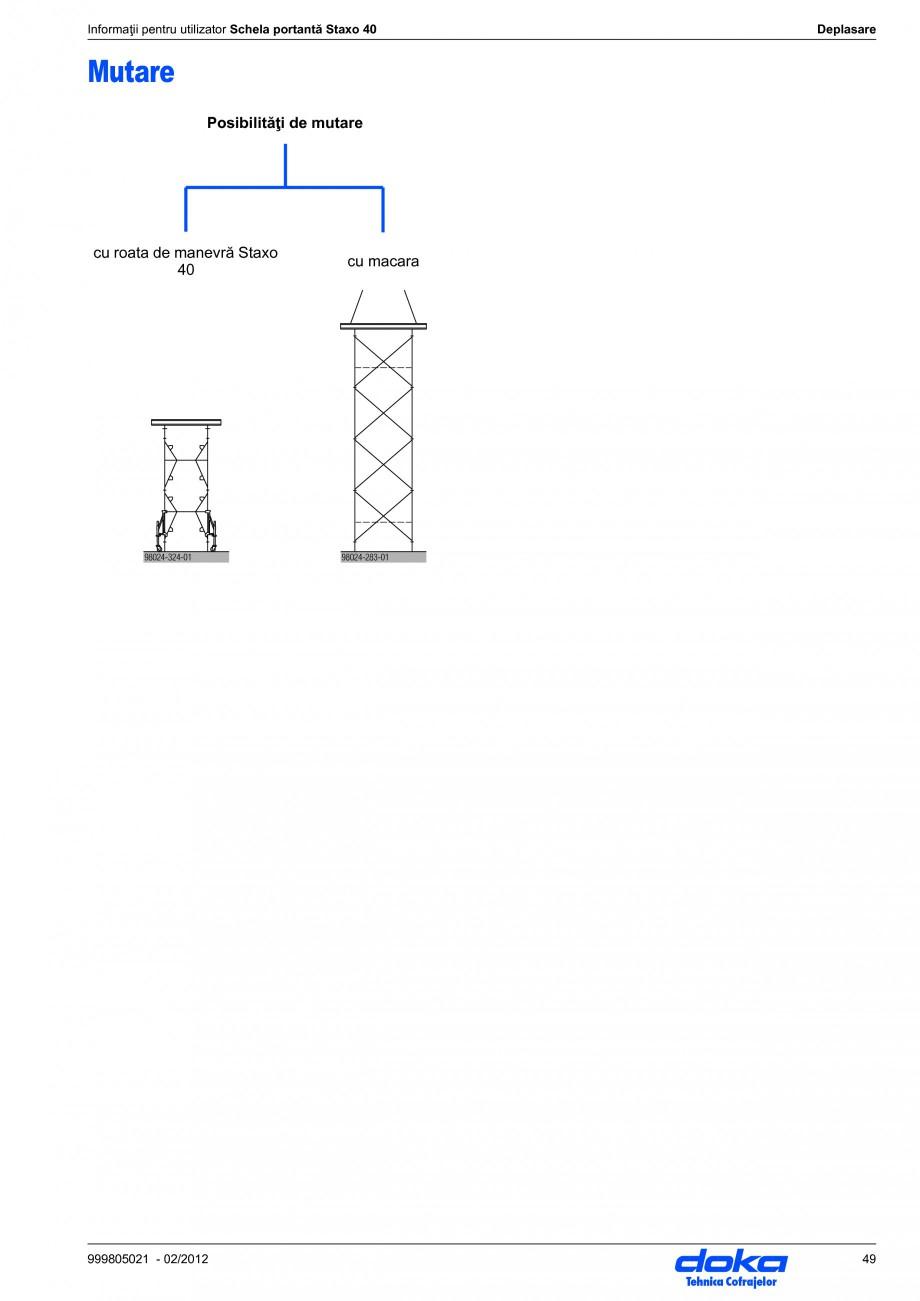 Pagina 49 - Schela portanta DOKA STAXO 40 Instructiuni montaj, utilizare Romana acele de fixare pot ...