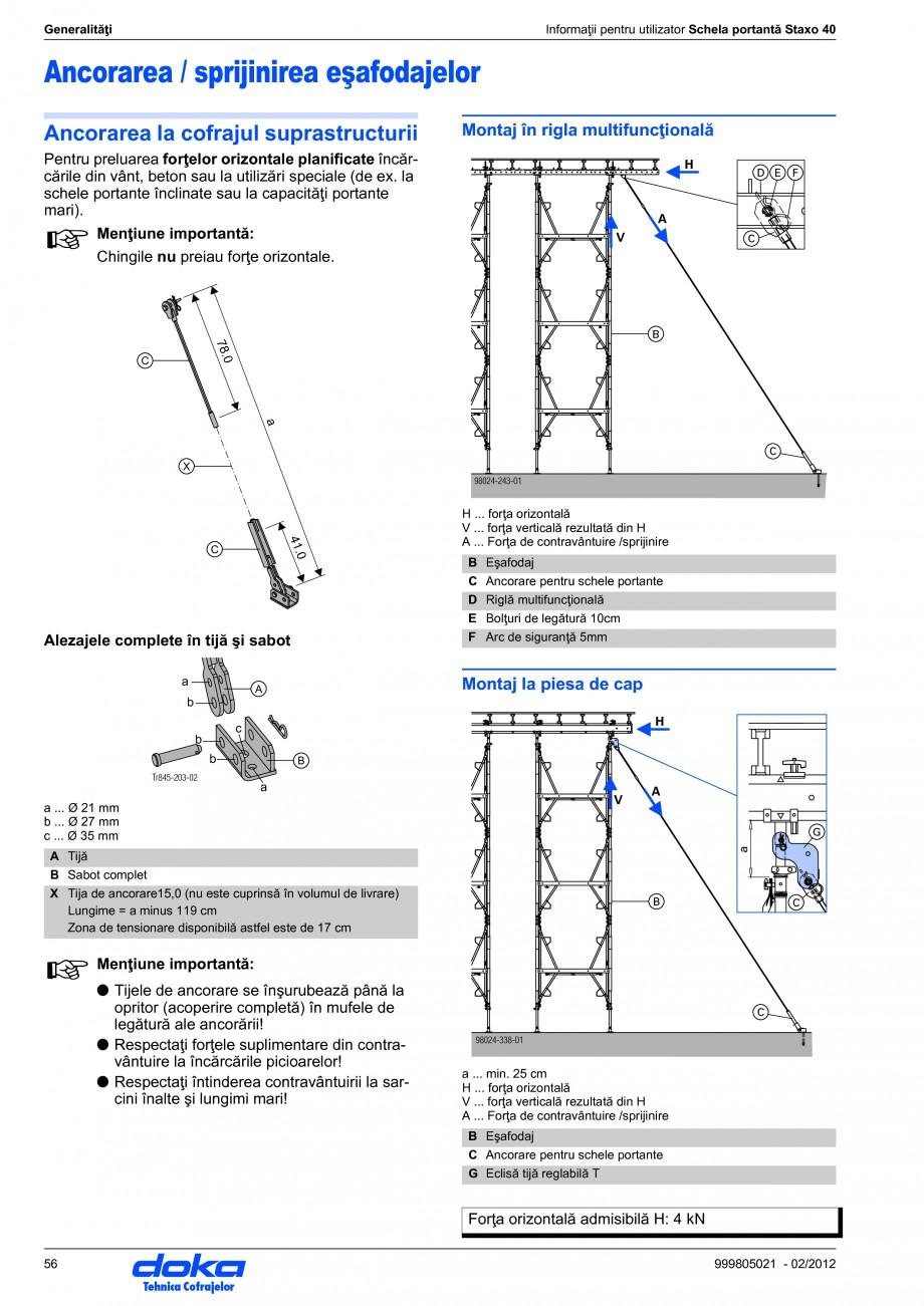 Pagina 56 - Schela portanta DOKA STAXO 40 Instructiuni montaj, utilizare Romana 98024-326-01  45 ...