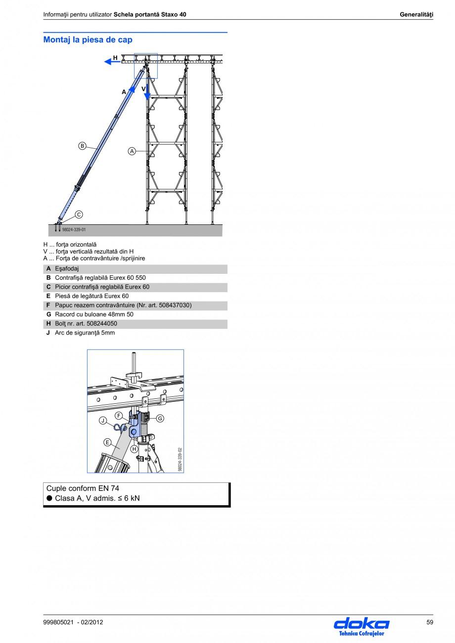 Pagina 59 - Schela portanta DOKA STAXO 40 Instructiuni montaj, utilizare Romana pentru utilizator...