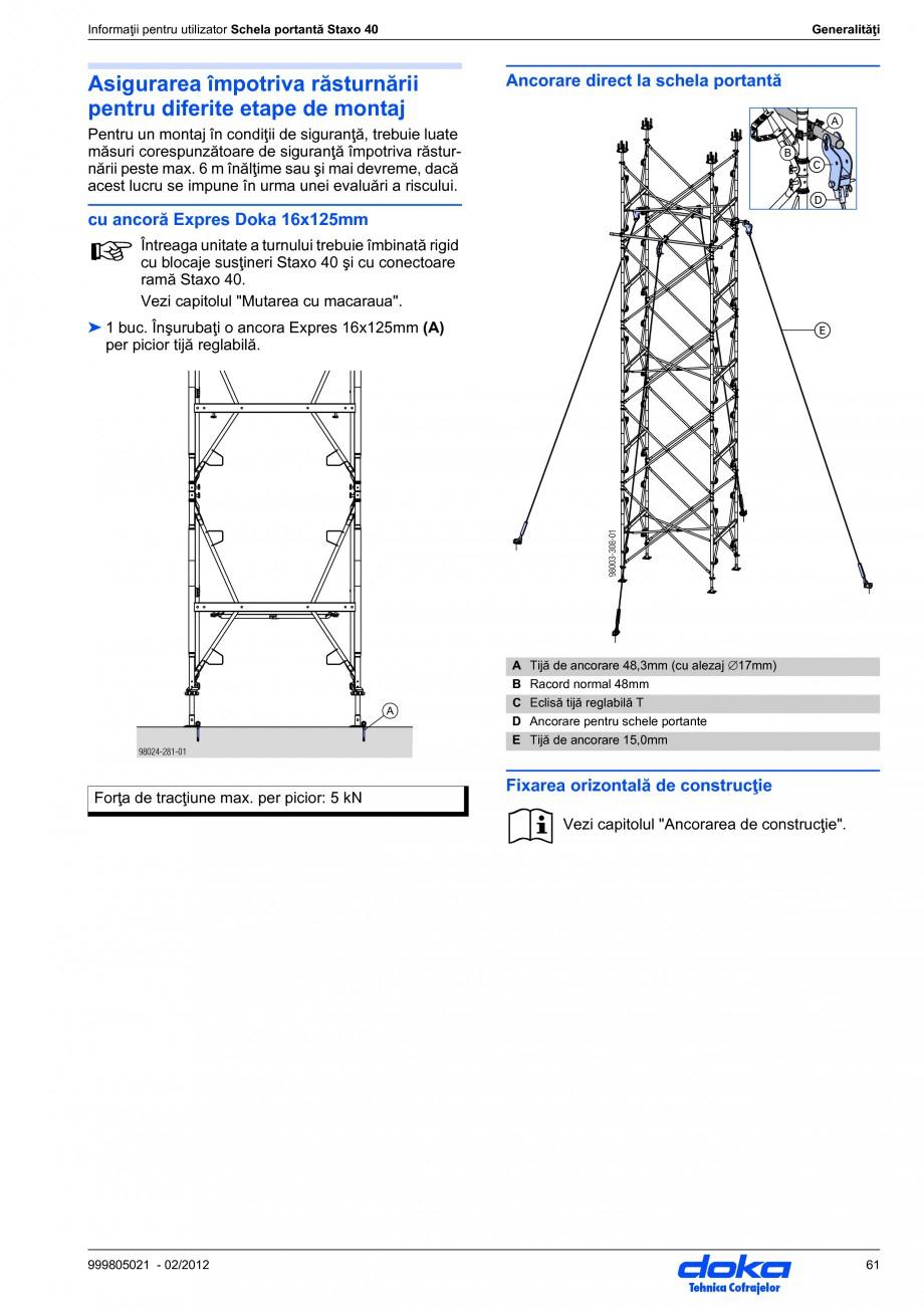 Pagina 61 - Schela portanta DOKA STAXO 40 Instructiuni montaj, utilizare Romana � ➤ Îmbinaţi...