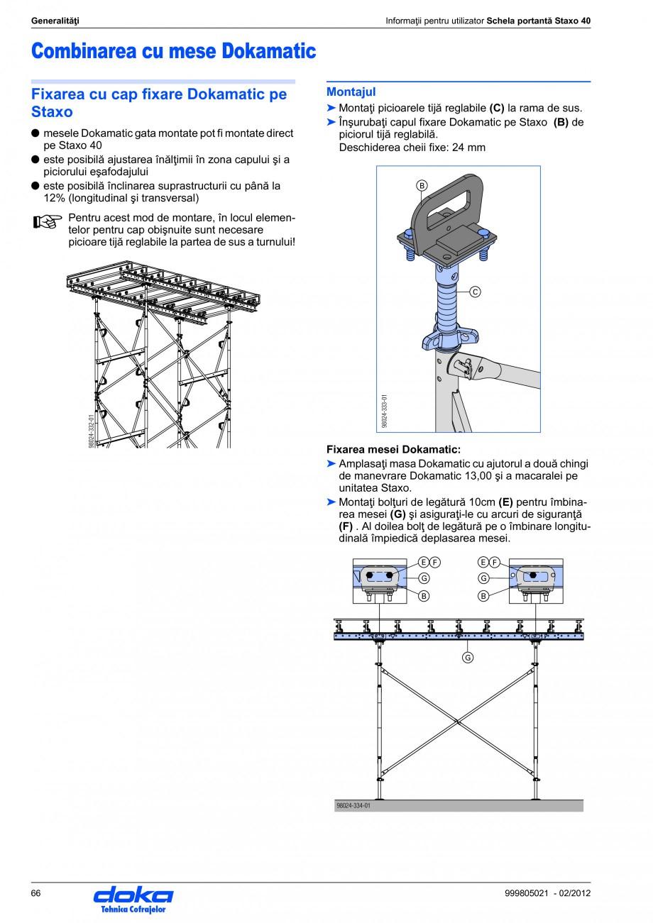 Pagina 66 - Schela portanta DOKA STAXO 40 Instructiuni montaj, utilizare Romana instrucţiunile de...