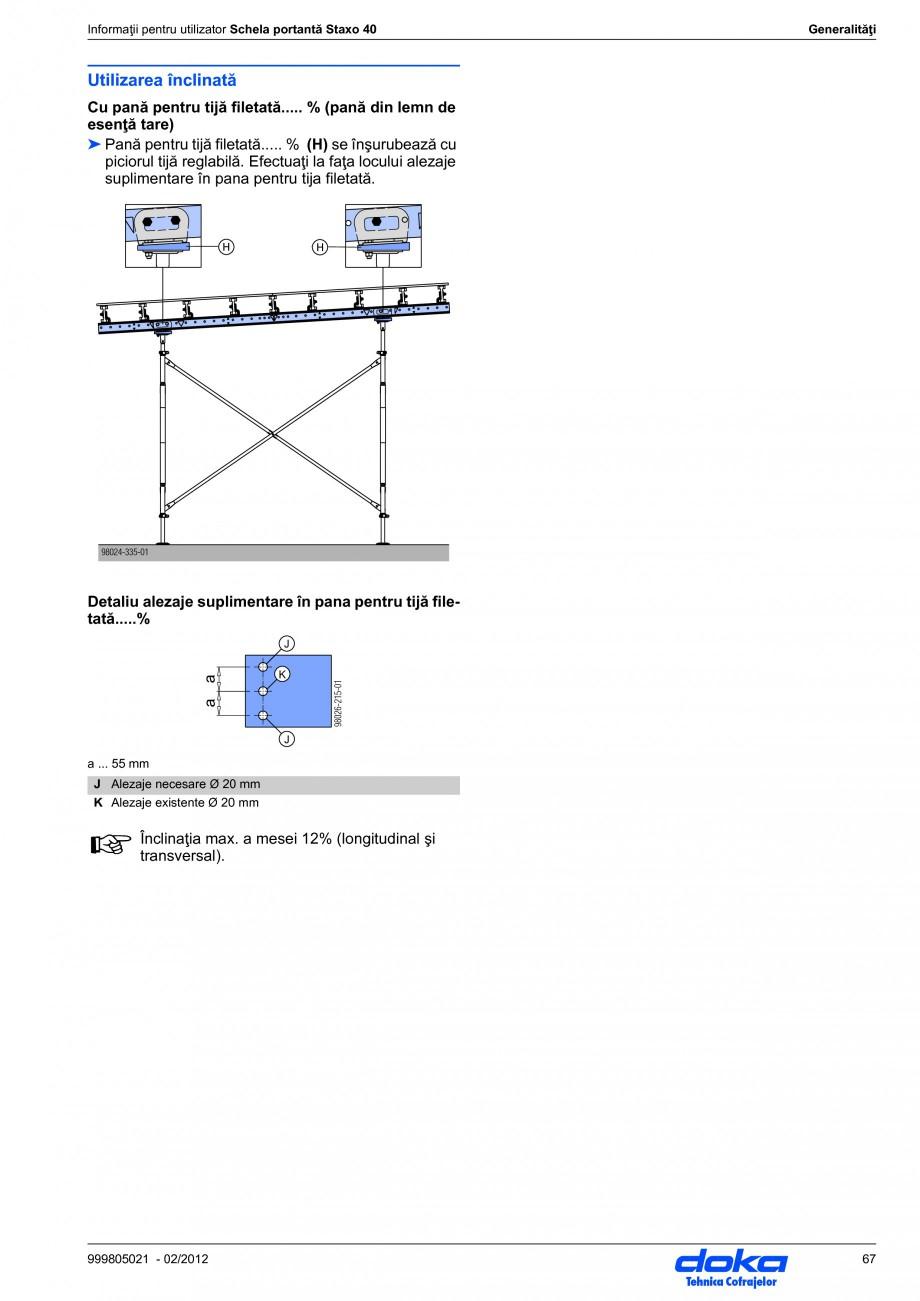 Pagina 67 - Schela portanta DOKA STAXO 40 Instructiuni montaj, utilizare Romana onform cerinţelor...