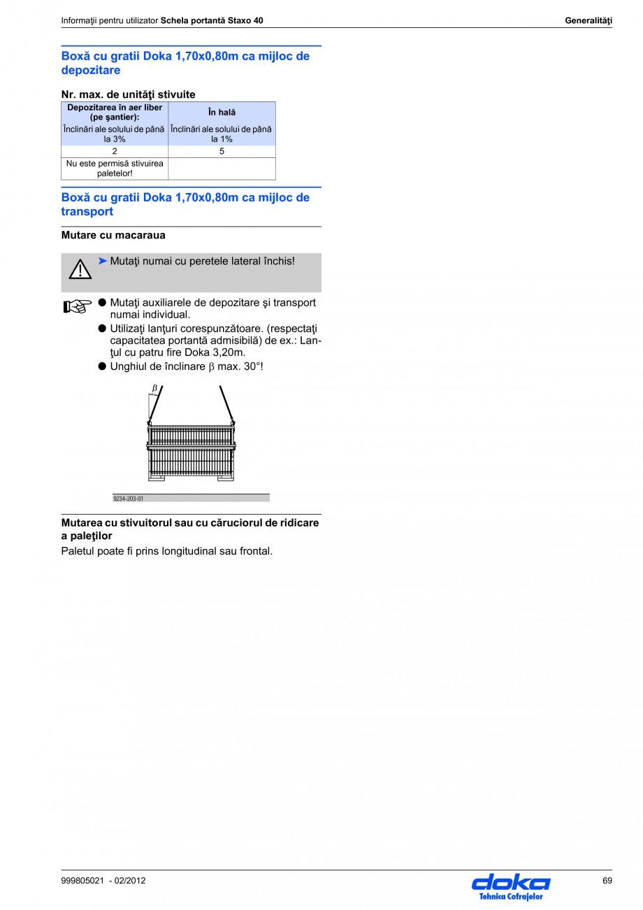 Pagina 69 - Schela portanta DOKA STAXO 40 Instructiuni montaj, utilizare Romana l cu 180°.  R  Z  A...