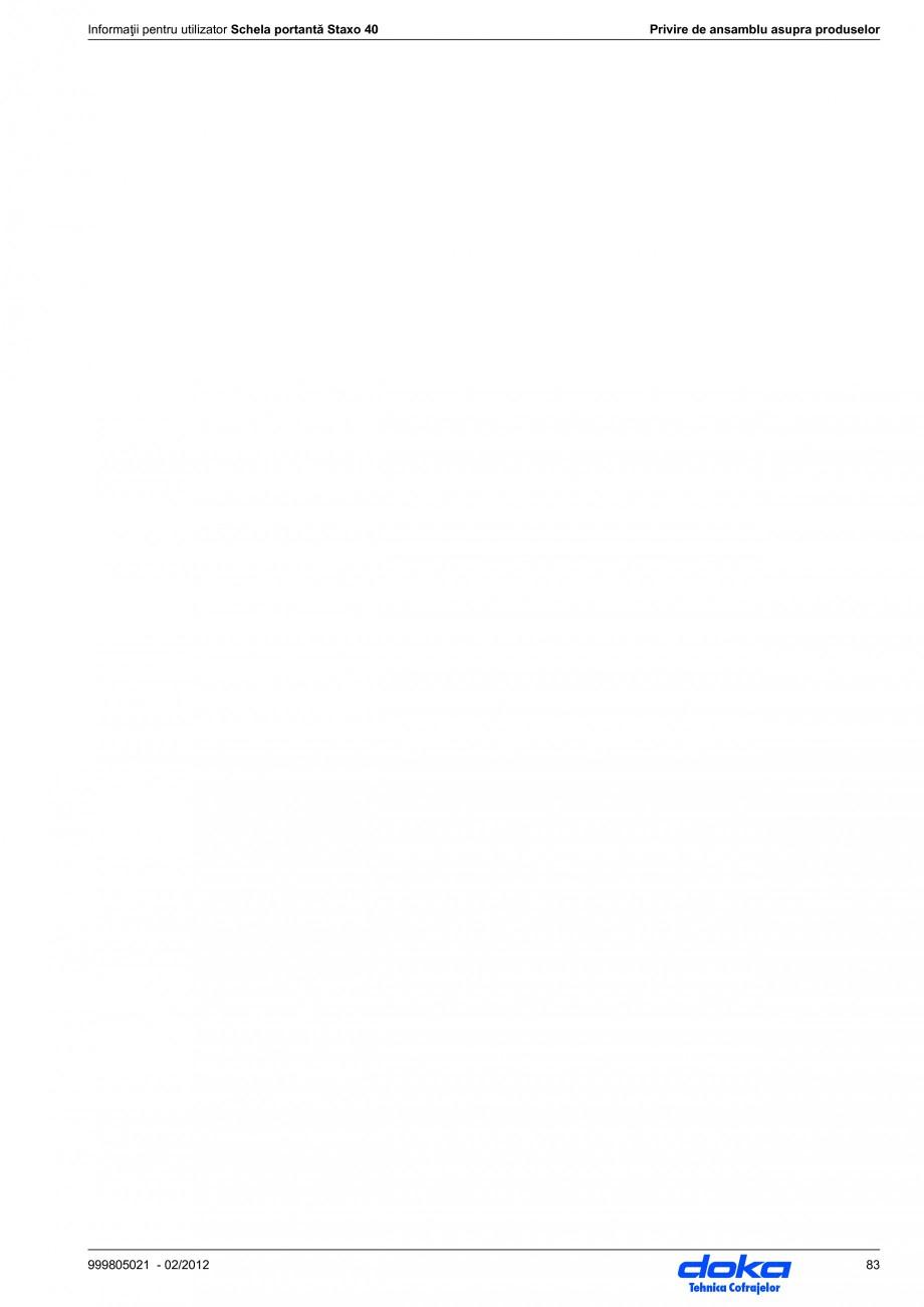 Pagina 83 - Schela portanta DOKA STAXO 40 Instructiuni montaj, utilizare Romana  portantă Staxo 40 ...