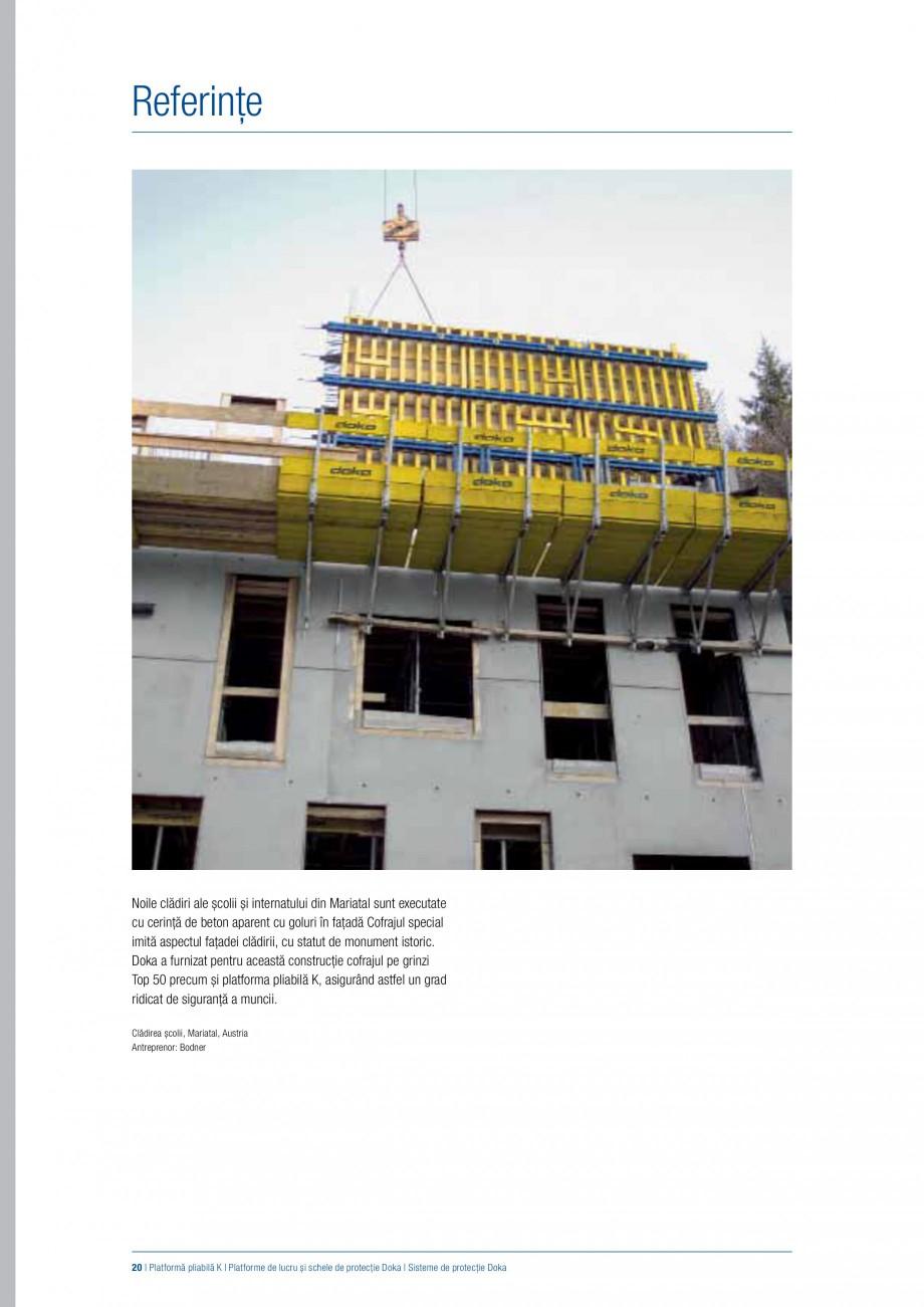 Pagina 19 - Siguranta pe santier - Sisteme de protectie DOKA Xsafe plus, K, XP, Montanti, Xclimb 60,...