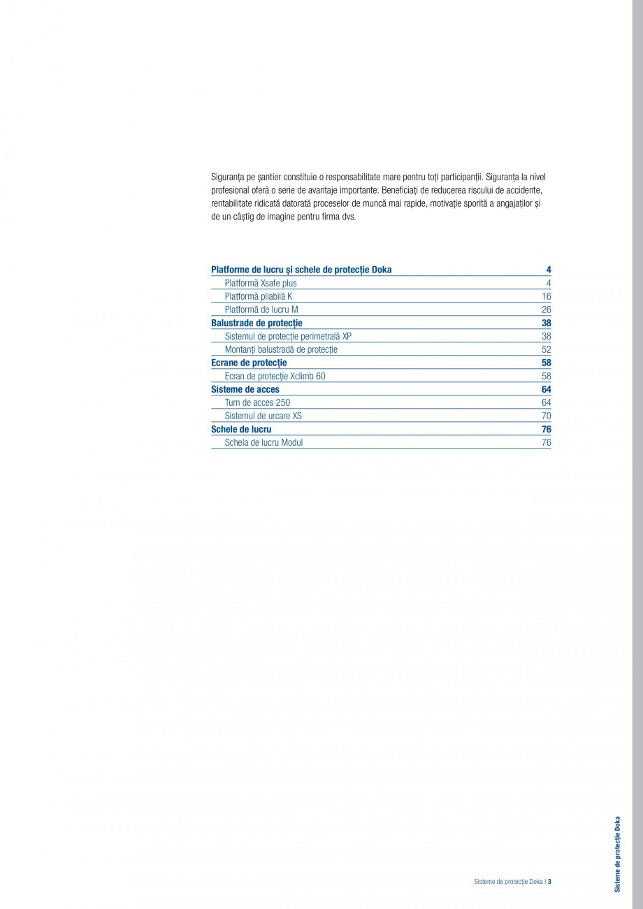 Pagina 2 - Siguranta pe santier - Sisteme de protectie DOKA Xsafe plus, K, XP, Montanti, Xclimb 60, ...